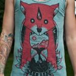 screen printing fox
