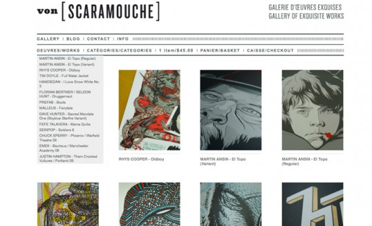 Big Cartel Theme Vonscaramouche