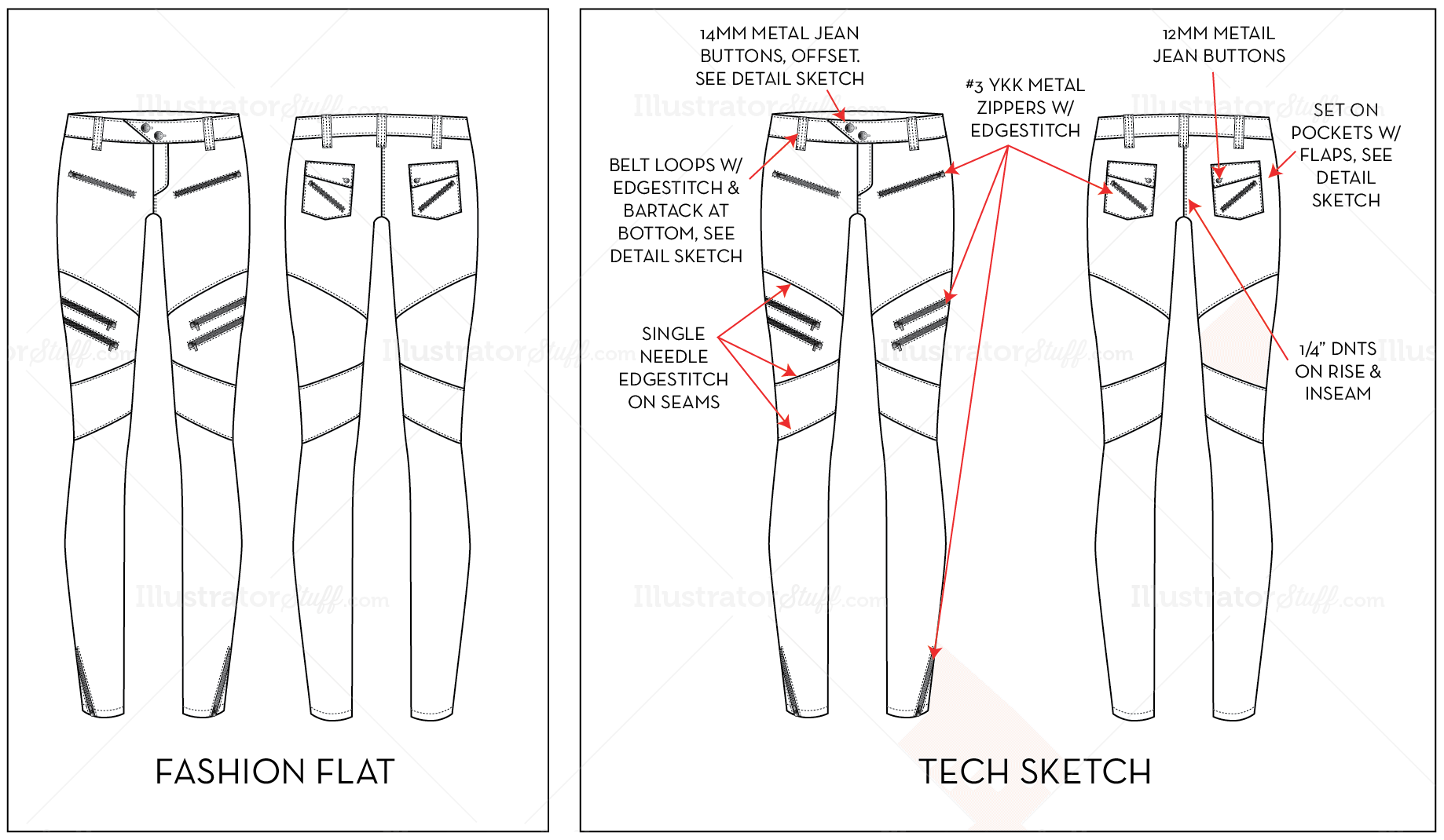 Fashion drawings templates